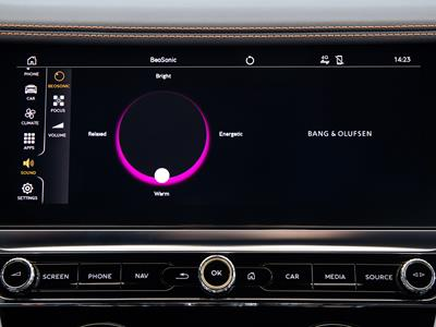 Bang & Olufsen BeoSonic interface in New Continental GT