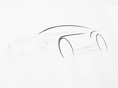 Continental Supersports exterior design sketch