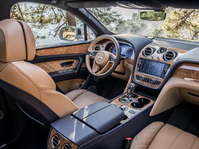Bentayga, car, SUV, 4x4, silver, interior, driving, leather