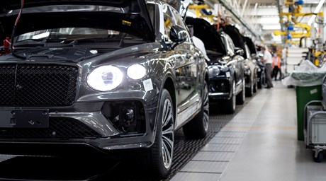 PRODUCTION OF BENTLEY'S NEW BENTAYGA NOW UNDERWAY AS CAPACITY INCREASES